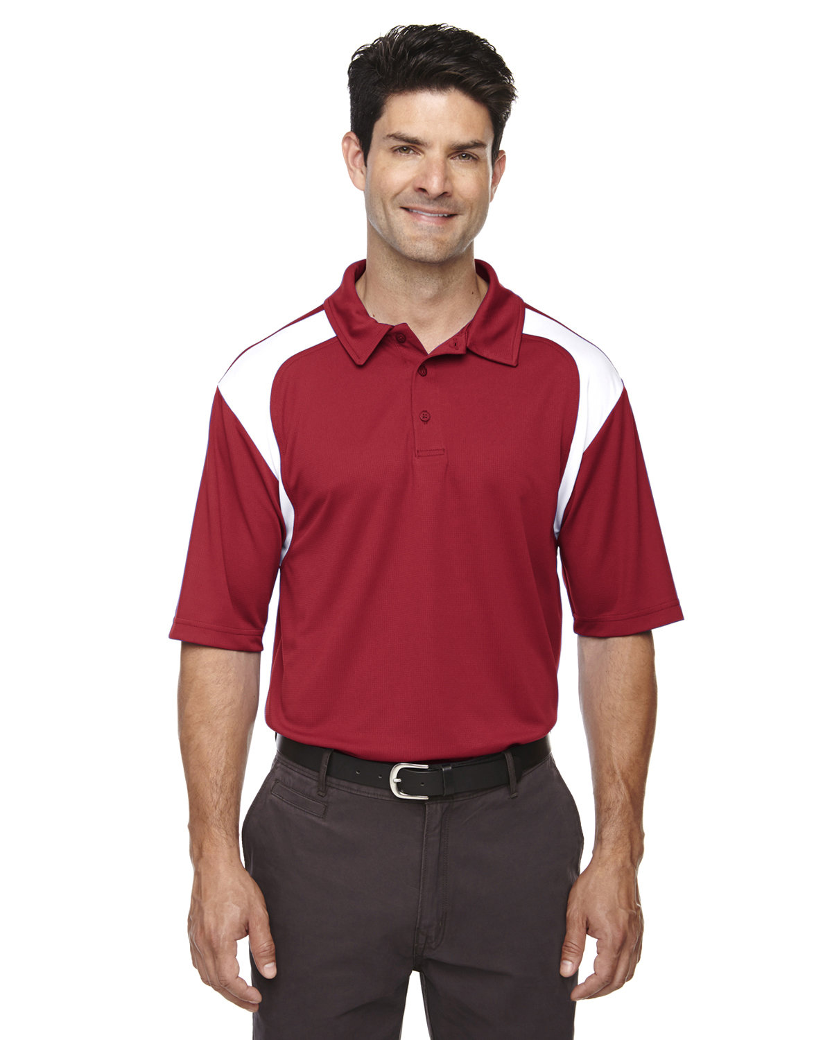 Extreme Men's Eperformance™ Colorblock Textured Polo CLASSIC RED