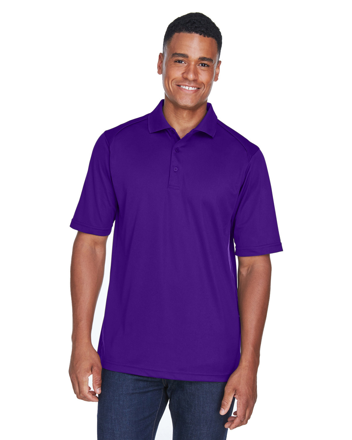 Extreme Men's Eperformance™ Shield Snag Protection Short-Sleeve Polo CAMPUS PURPLE