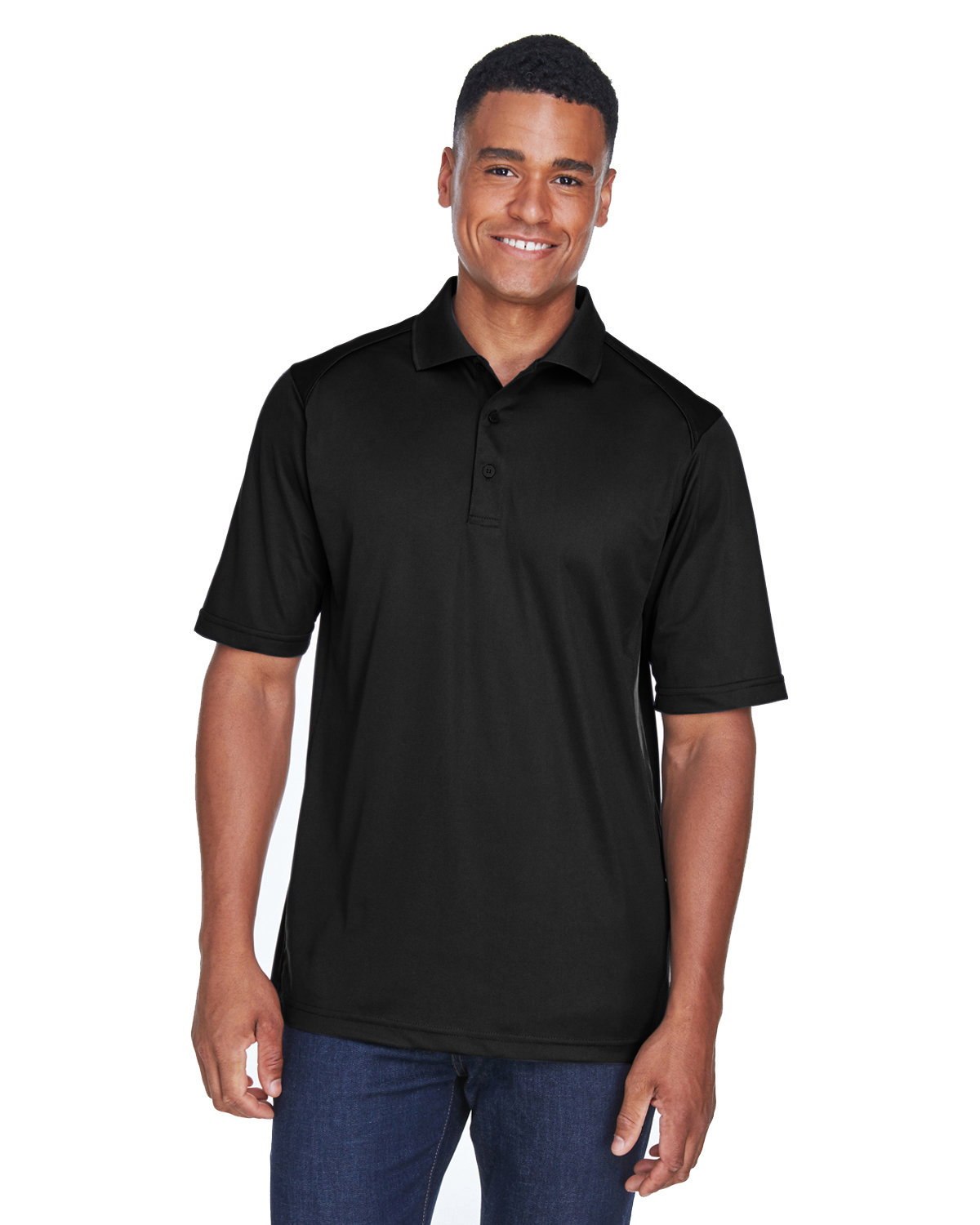 Extreme Men's Tall Eperformance™ Shield Snag Protection Short-Sleeve Polo BLACK
