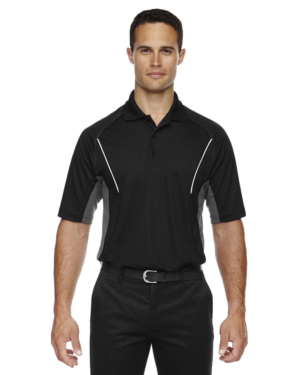 Extreme Men's Eperformance™ Parallel Snag Protection Polo with Piping BLACK