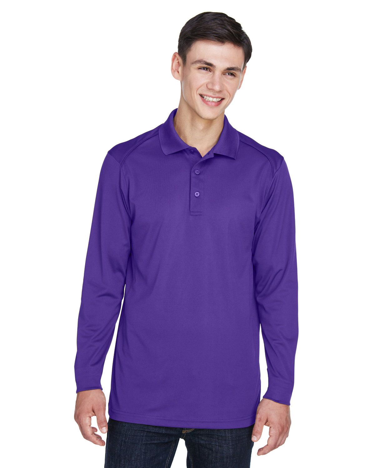Extreme Men's Eperformance™ Snag Protection Long-Sleeve Polo CAMPUS PURPLE