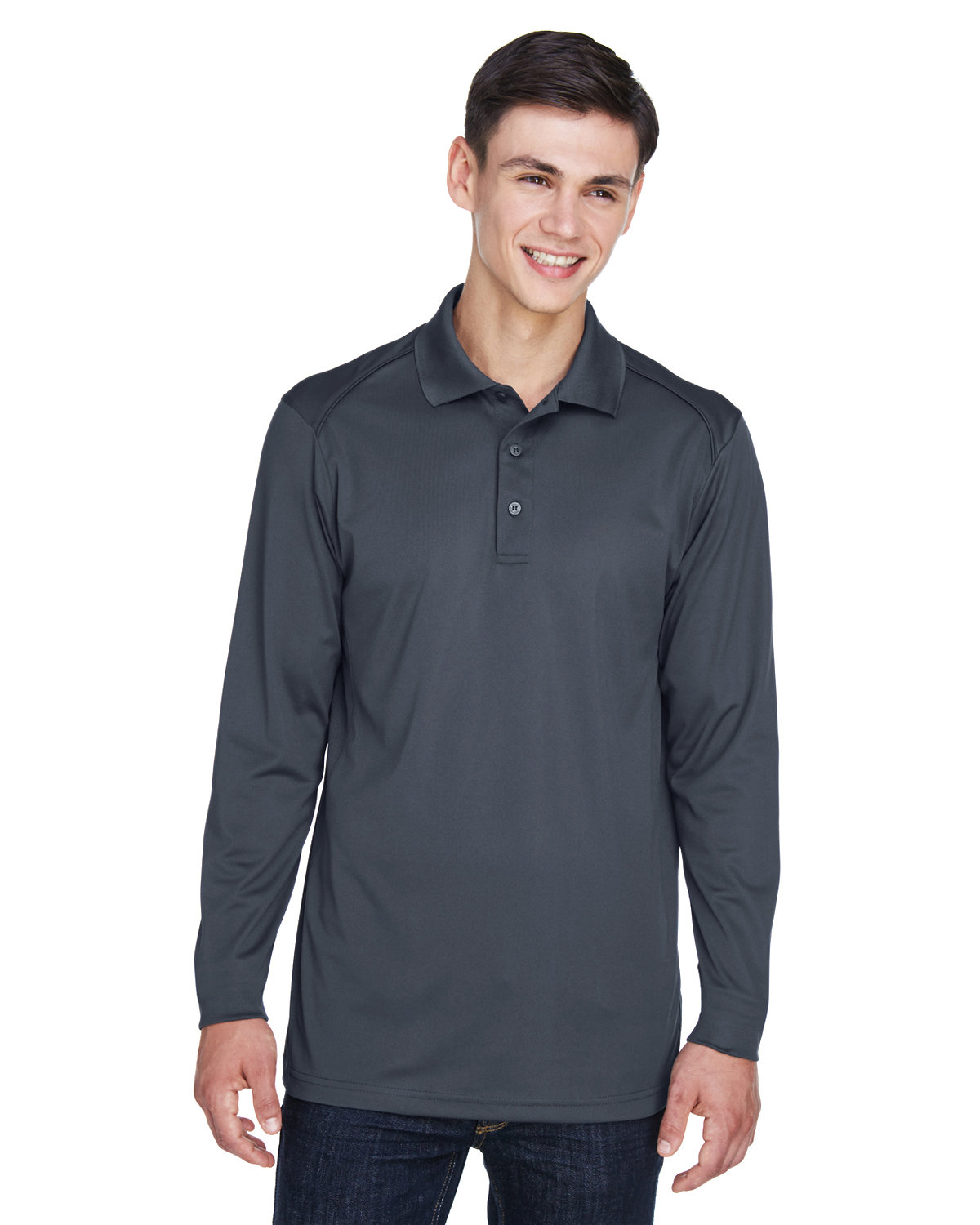Extreme Men's Eperformance™ Snag Protection Long-Sleeve Polo CARBON