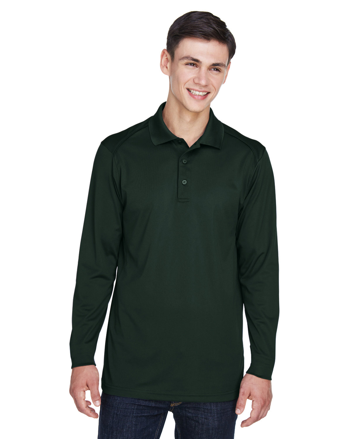 Extreme Men's Eperformance™ Snag Protection Long-Sleeve Polo FOREST