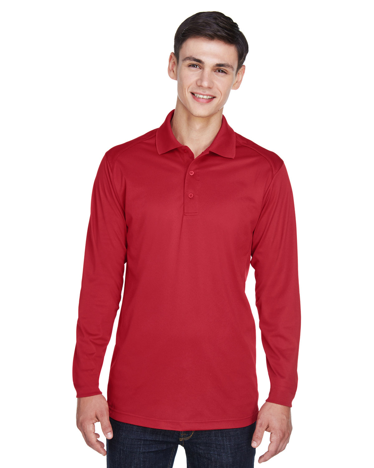 Extreme Men's Eperformance™ Snag Protection Long-Sleeve Polo CLASSIC RED