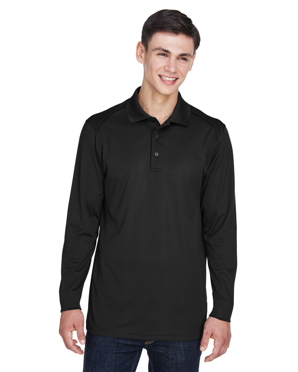 Extreme Men's Tall Eperformance™ Snag Protection Long-Sleeve Polo BLACK
