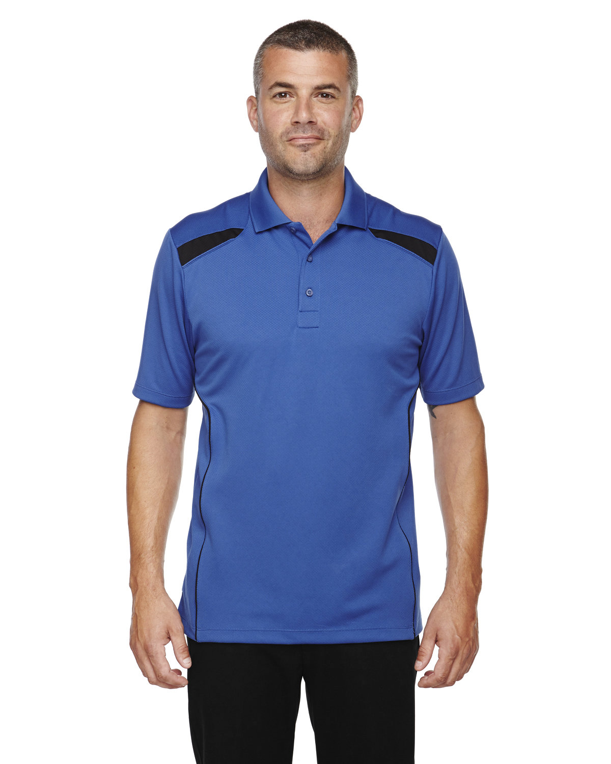 Extreme Men's Eperformance™ Tempo Recycled Polyester Performance Textured Polo NAUTICAL BLUE