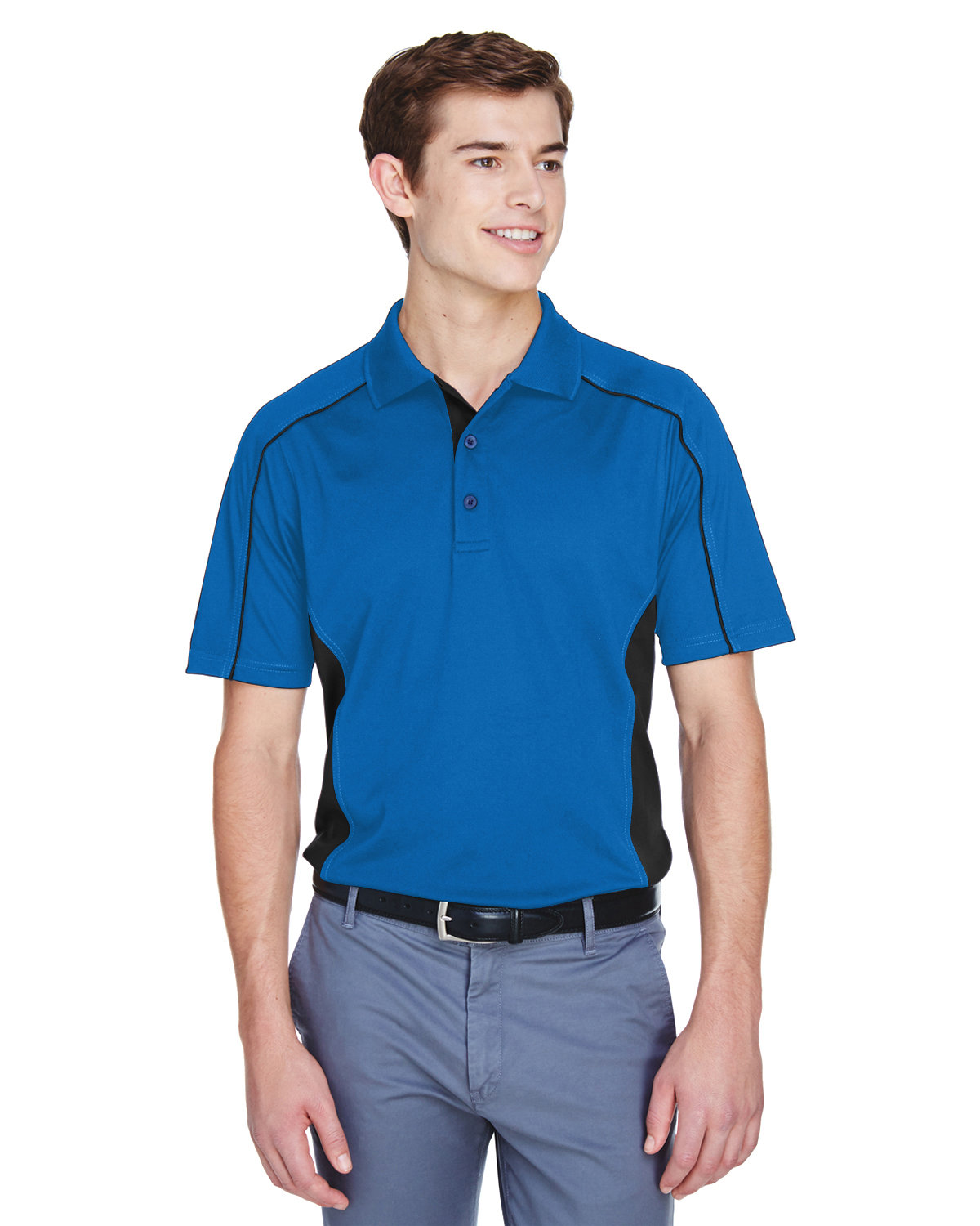 Extreme Men's Tall Eperformance™ Fuse Snag Protection Plus Colorblock Polo TRUE ROYAL/ BLK