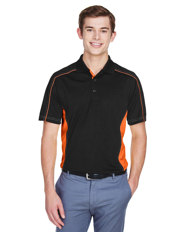 Extreme Men's Tall Eperformance™ Fuse Snag Protection Plus Colorblock Polo BLACK/ ORANGE