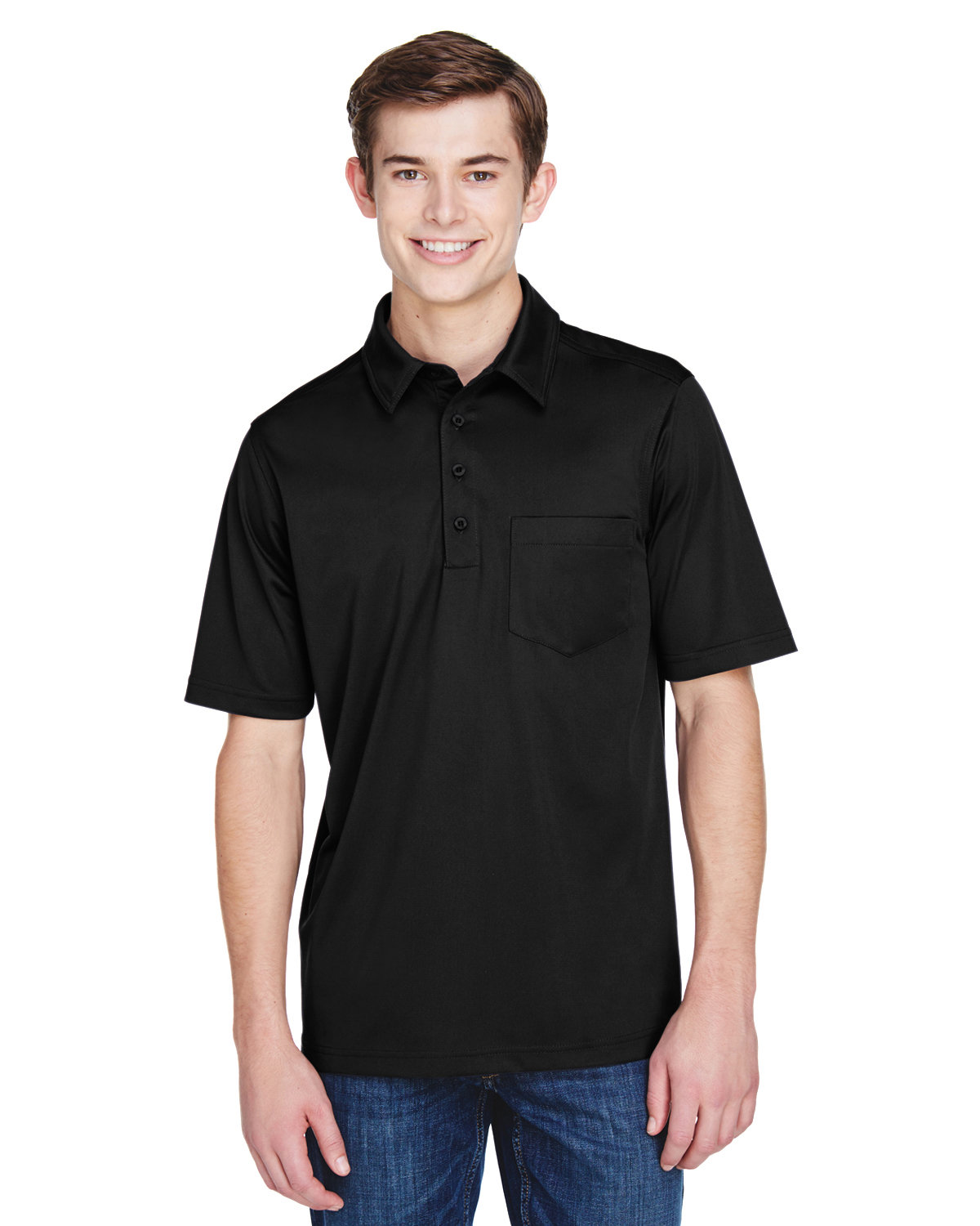 Extreme Men's Tall Eperformance™ Shift Snag Protection Plus Polo BLACK