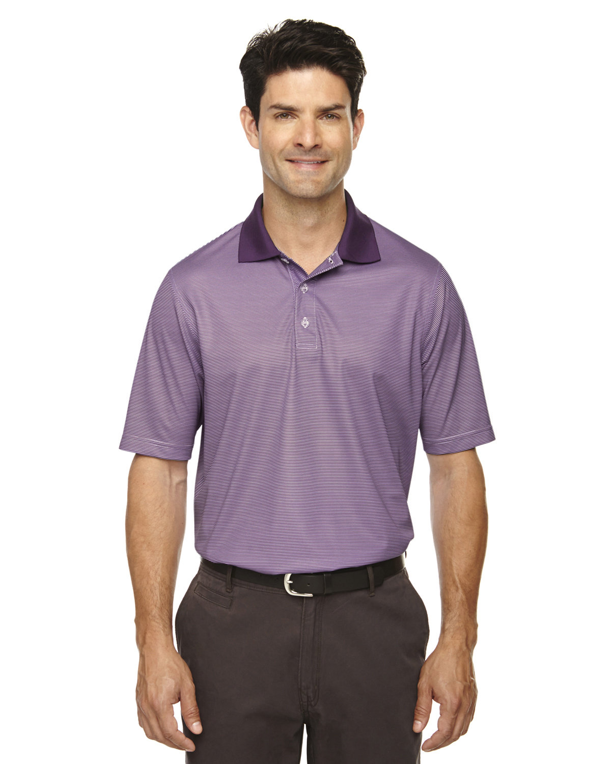 Extreme Men's Eperformance™ Launch Snag Protection Striped Polo MULBERRY PURPLE