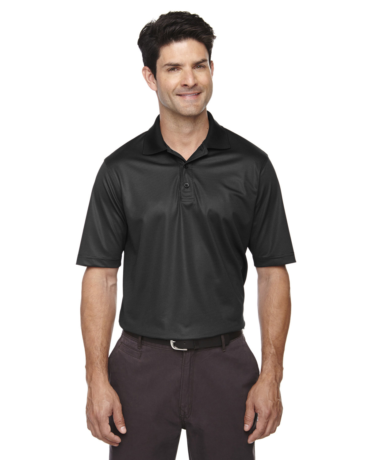 Extreme Men's Eperformance™ Launch Snag Protection Striped Polo BLACK