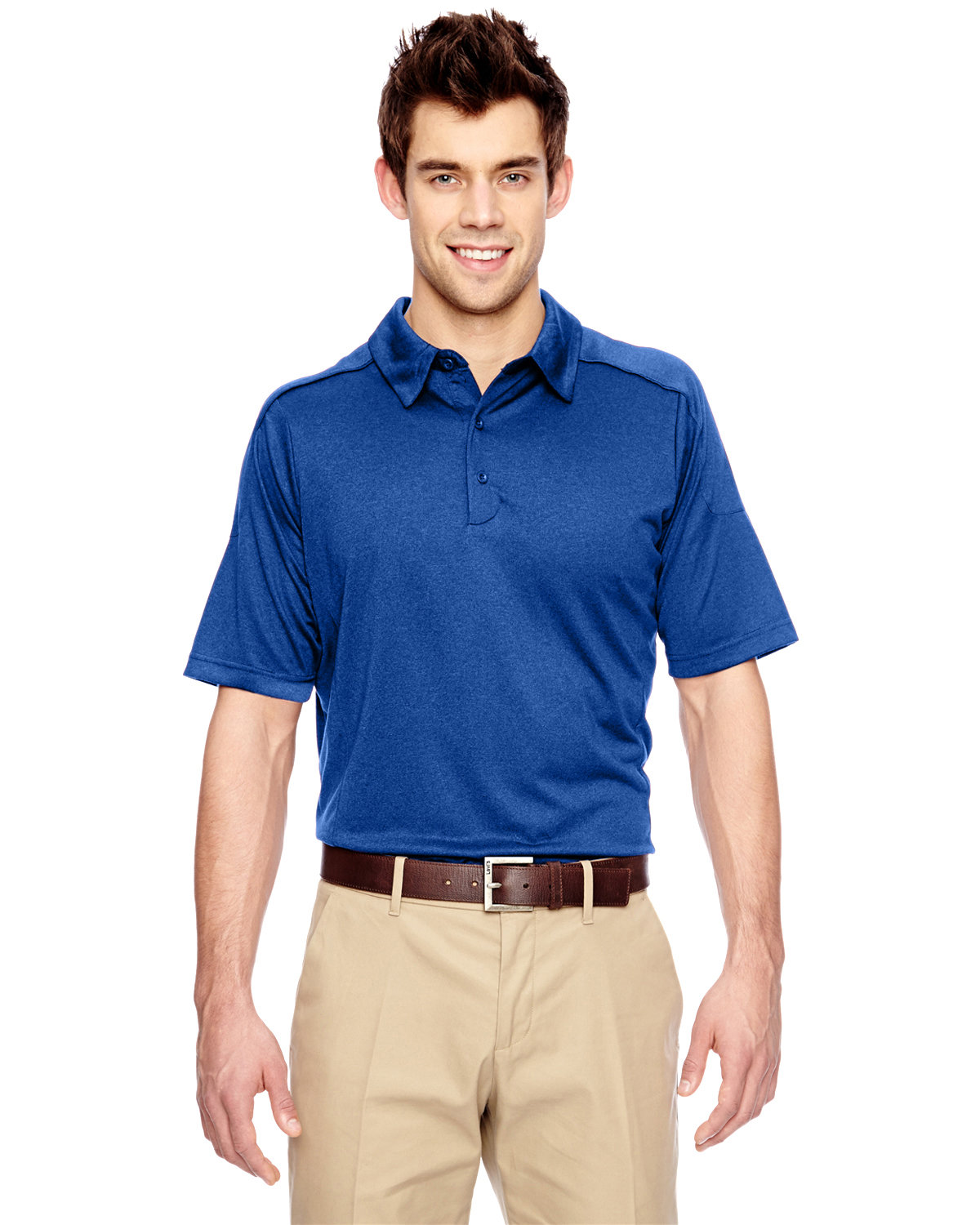 Extreme Men's Eperformance™ Fluid Mélange Polo NAUTICAL BLUE