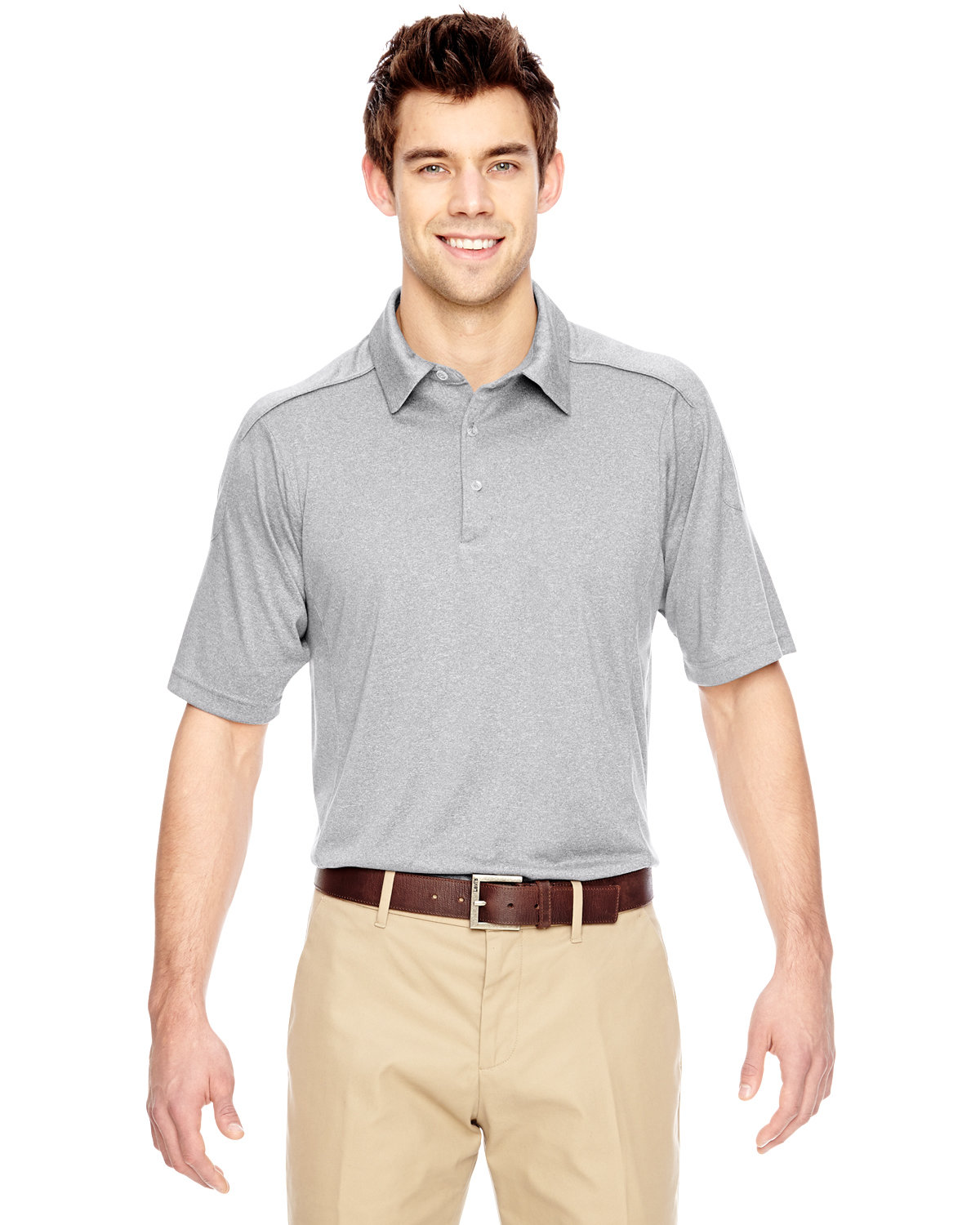 Extreme Men's Eperformance™ Fluid Mélange Polo LIGHT GREY