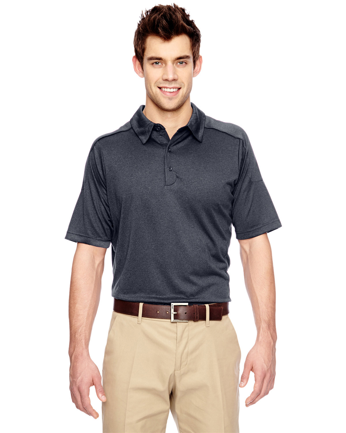 Extreme Men's Eperformance™ Fluid Mélange Polo CARBON