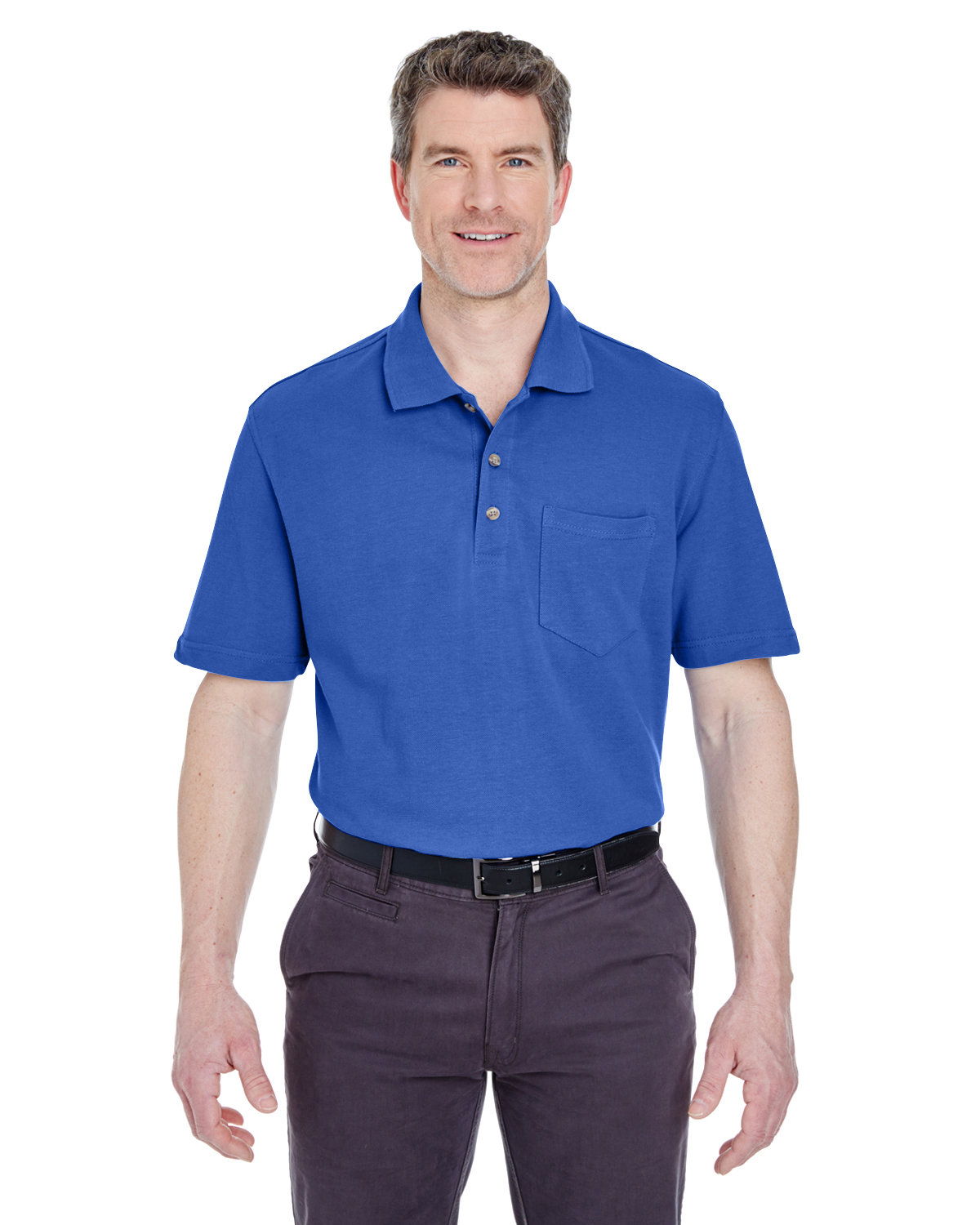 UltraClub Adult Classic Piqué Polo withPocket ROYAL