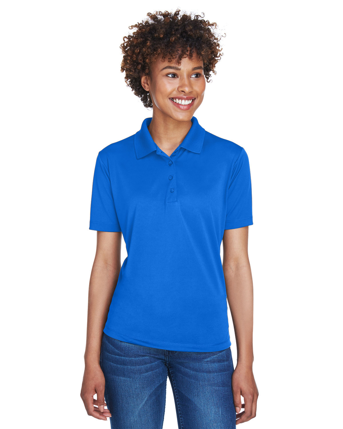 UltraClub Ladies' Cool & Dry 8-Star Elite Performance Interlock Polo ROYAL