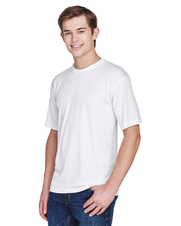 UltraClub Men's Cool & Dry Basic Performance T-Shirt WHITE