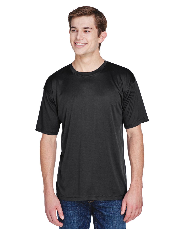 UltraClub Men's Cool & Dry Basic Performance T-Shirt BLACK