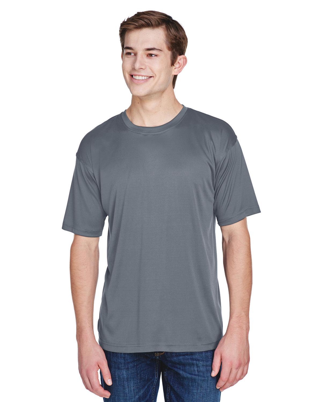 UltraClub Men's Cool & Dry Basic Performance T-Shirt CHARCOAL