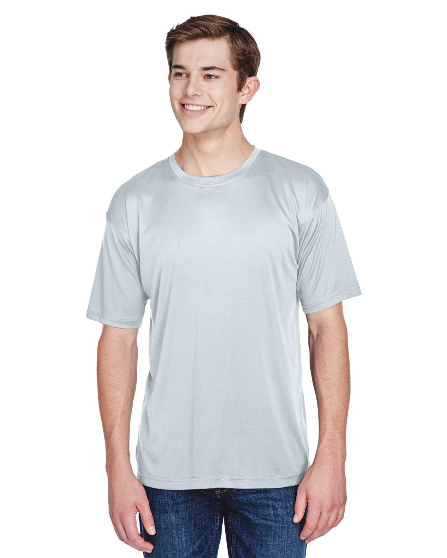 UltraClub Men's Cool & Dry Basic Performance T-Shirt GREY