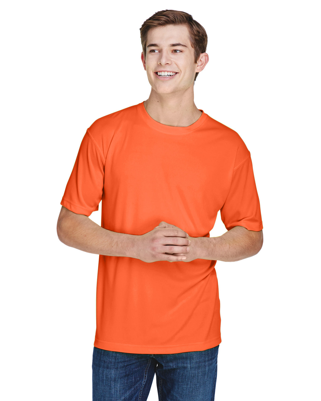 UltraClub Men's Cool & Dry Basic Performance T-Shirt BRIGHT ORANGE