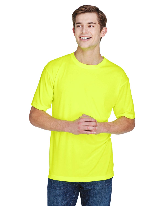 UltraClub Men's Cool & Dry Basic Performance T-Shirt BRIGHT YELLOW