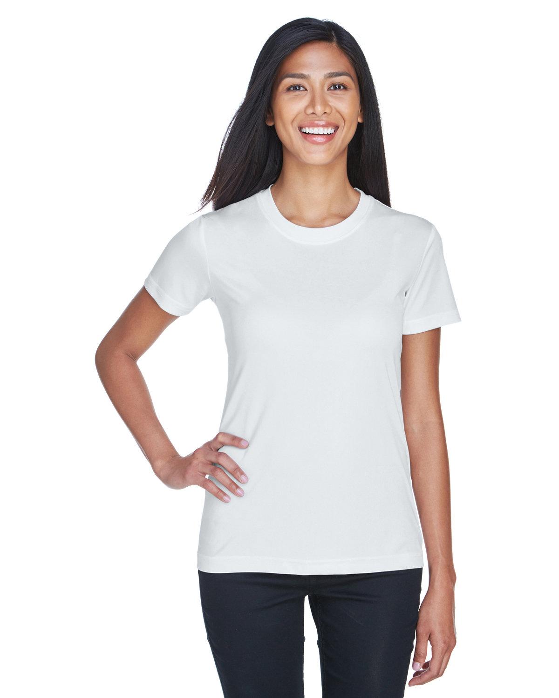 UltraClub Ladies' Cool & Dry Basic Performance T-Shirt WHITE