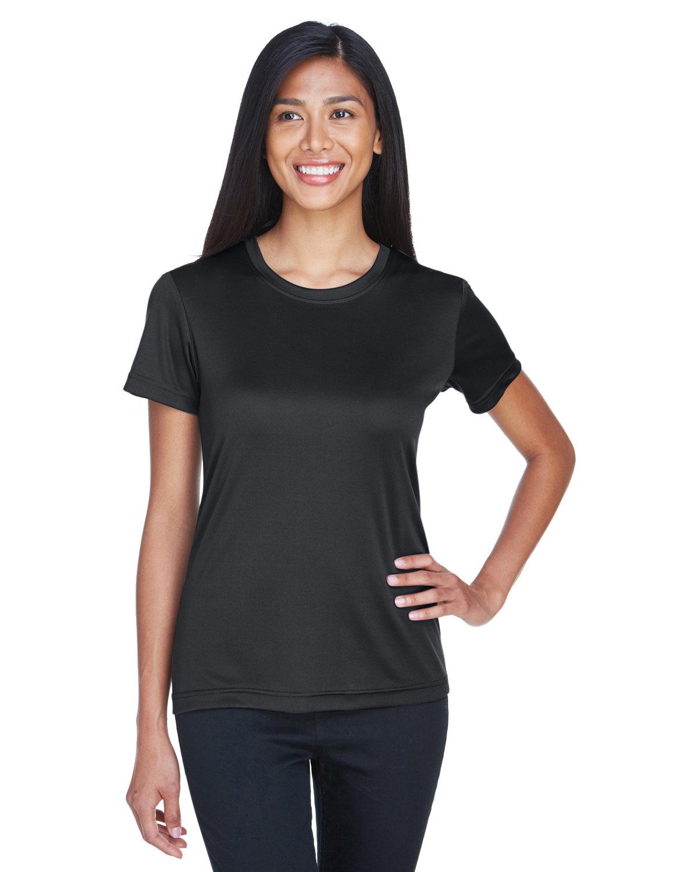 UltraClub Ladies' Cool & Dry Basic Performance T-Shirt BLACK