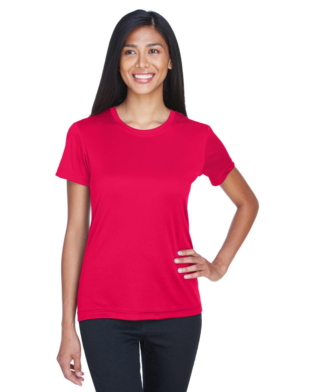 UltraClub Ladies' Cool & Dry Basic Performance T-Shirt RED