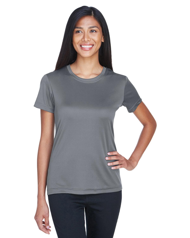 UltraClub Ladies' Cool & Dry Basic Performance T-Shirt CHARCOAL