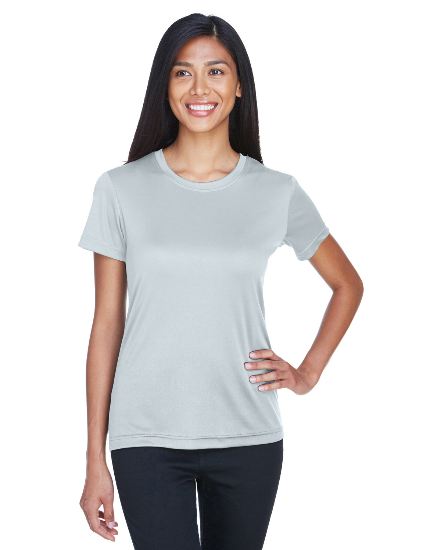 UltraClub Ladies' Cool & Dry Basic Performance T-Shirt GREY