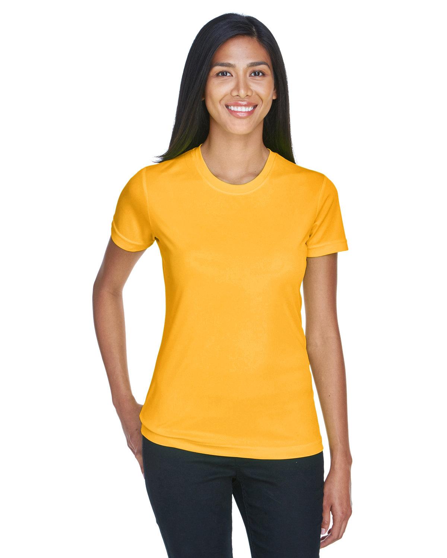 UltraClub Ladies' Cool & Dry Basic Performance T-Shirt GOLD