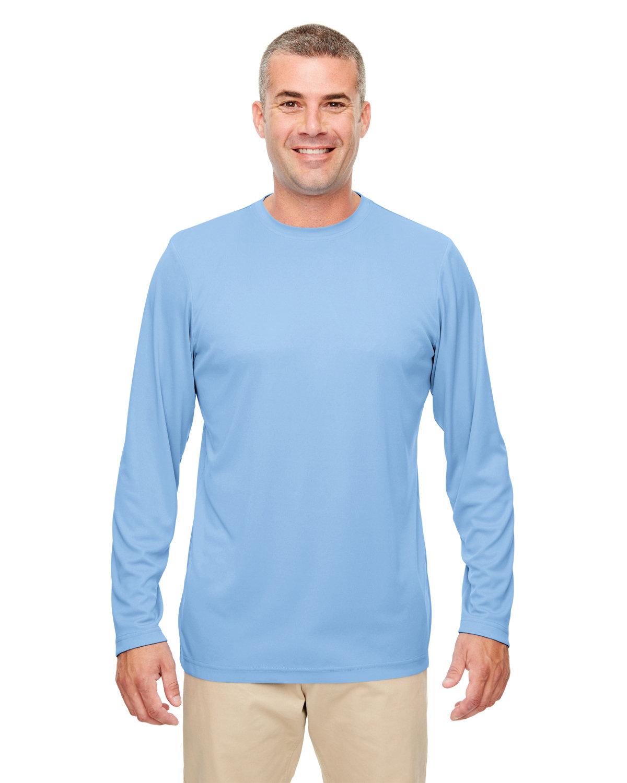 UltraClub Men's Cool & Dry Performance Long-Sleeve Top COLUMBIA BLUE