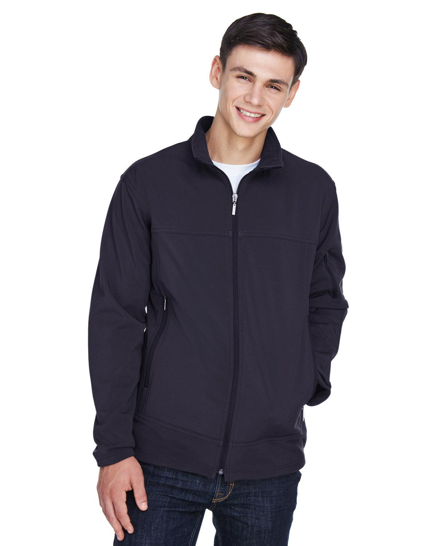 North End Men's Three-Layer Fleece Bonded Performance Soft Shell Jacket MIDNIGHT NAVY