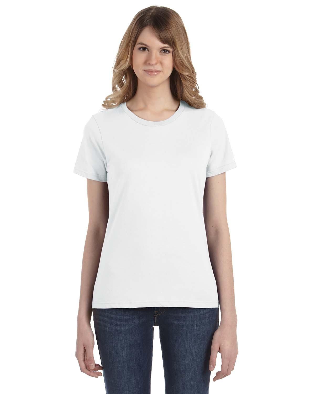 Anvil Ladies' Lightweight T-Shirt WHITE