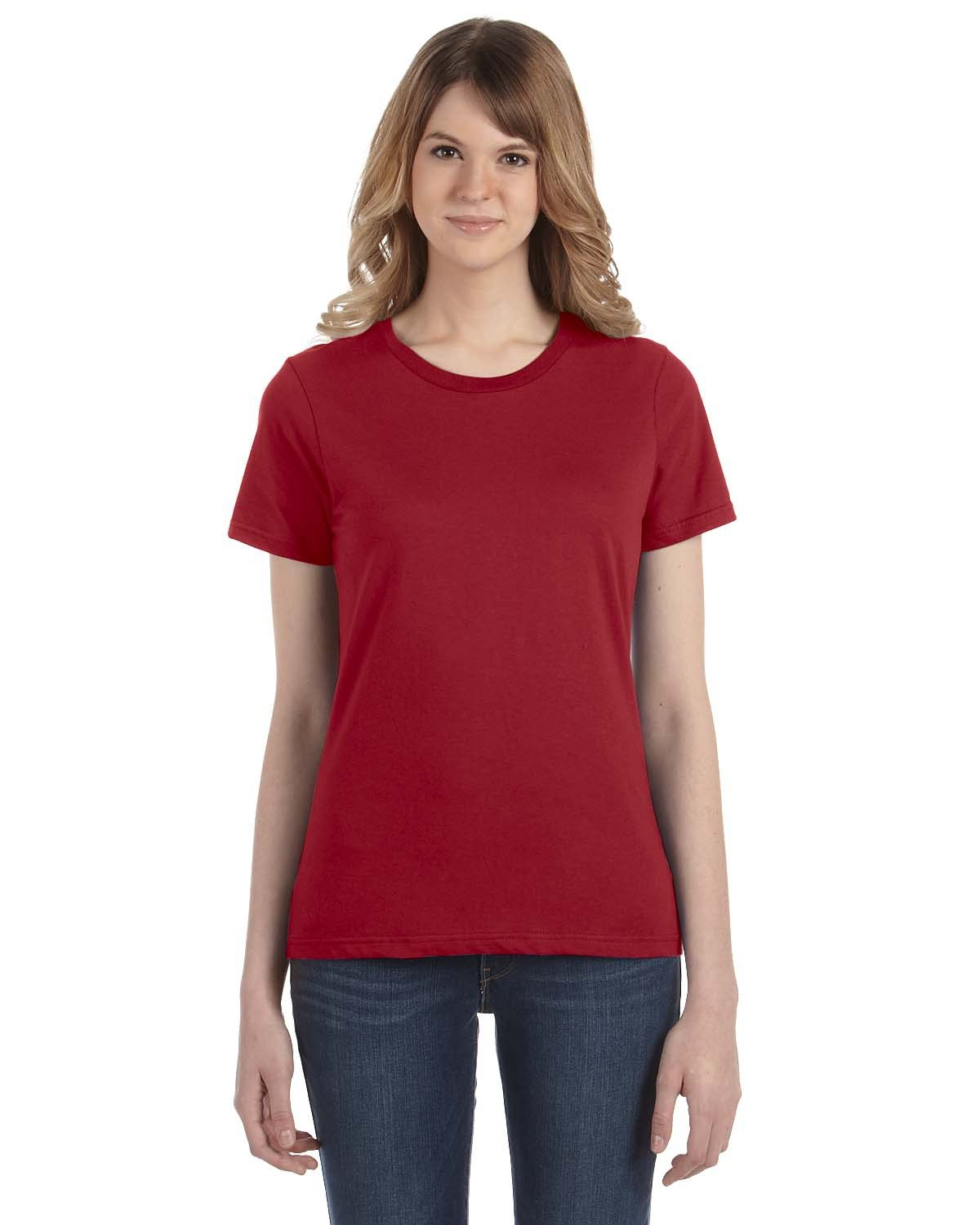 Anvil Ladies' Lightweight T-Shirt INDEPENDENCE RED