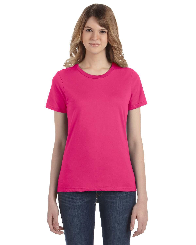 Anvil Ladies' Lightweight T-Shirt HOT PINK