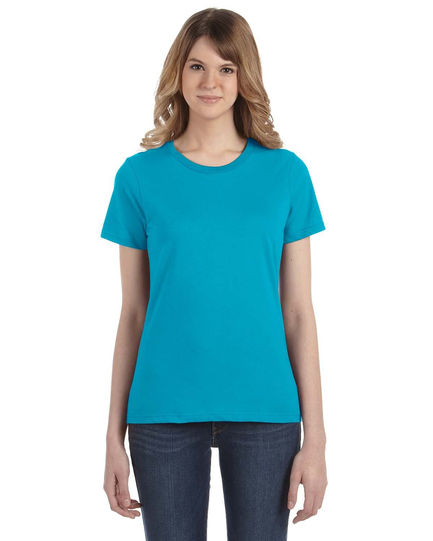 Anvil Ladies' Lightweight T-Shirt CARIBBEAN BLUE