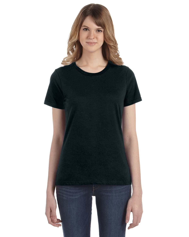 Anvil Ladies' Lightweight T-Shirt BLACK