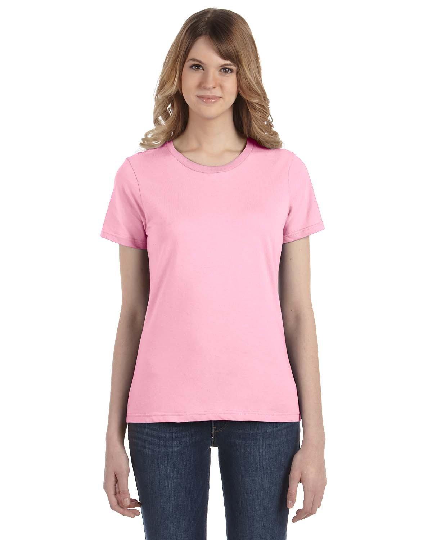 Anvil Ladies' Lightweight T-Shirt CHARITY PINK