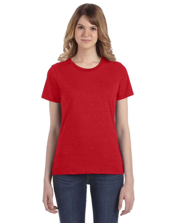 Anvil Ladies' Lightweight T-Shirt HEATHER RED