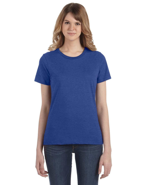 Anvil Ladies' Lightweight T-Shirt HEATHER BLUE