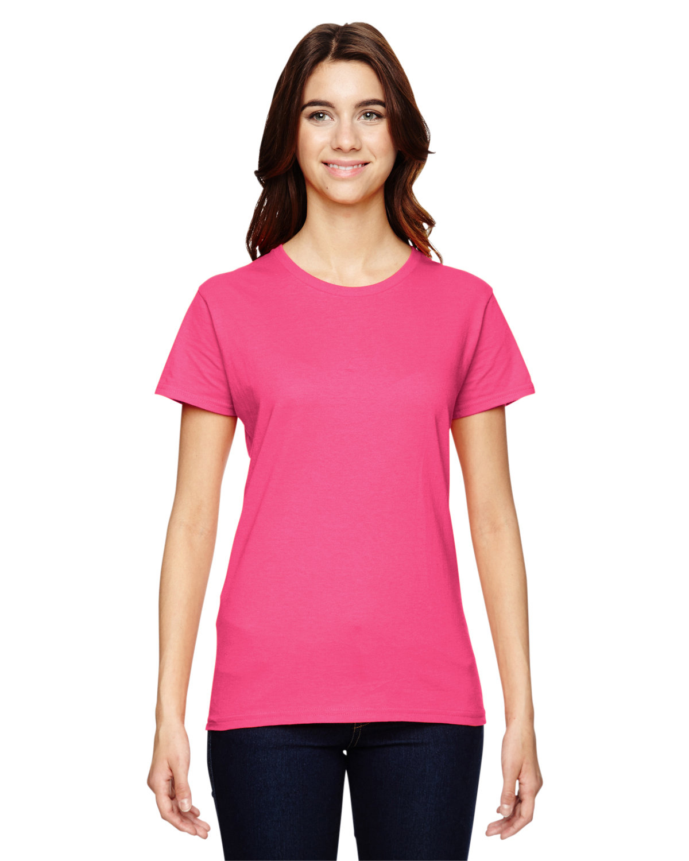 Anvil Ladies' Lightweight T-Shirt NEON PINK