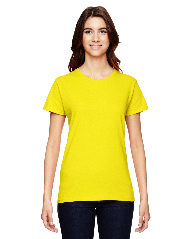Anvil Ladies' Lightweight T-Shirt NEON YELLOW