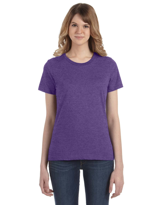 Anvil Ladies' Lightweight T-Shirt HEATHER PURPLE
