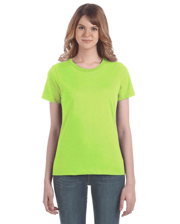 Anvil Ladies' Lightweight T-Shirt NEON GREEN