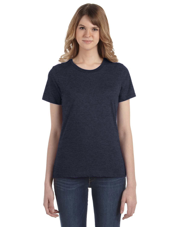 Anvil Ladies' Lightweight T-Shirt HEATHER NAVY