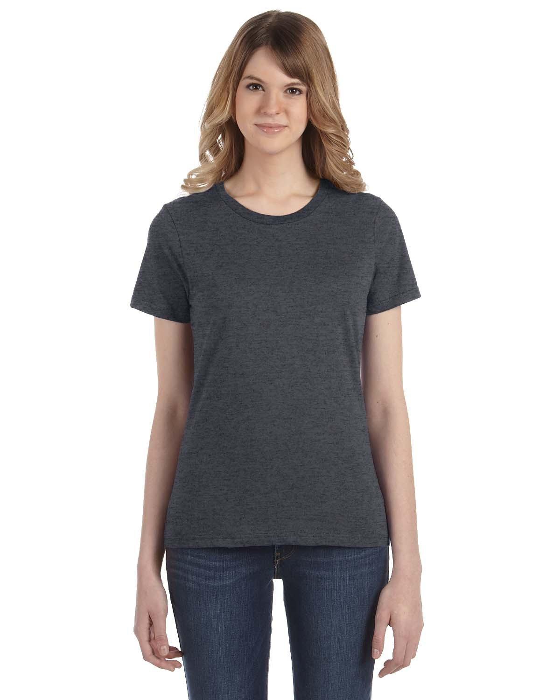 Anvil Ladies' Lightweight T-Shirt HEATHER DK GREY