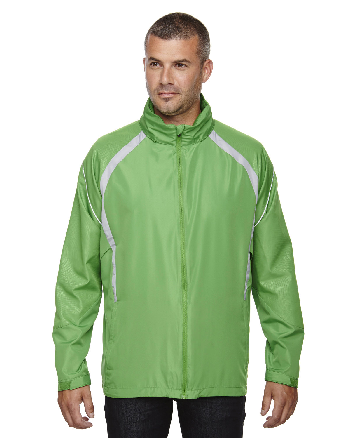 North End Men's Sirius Lightweight Jacket with Embossed Print VALLEY GREEN