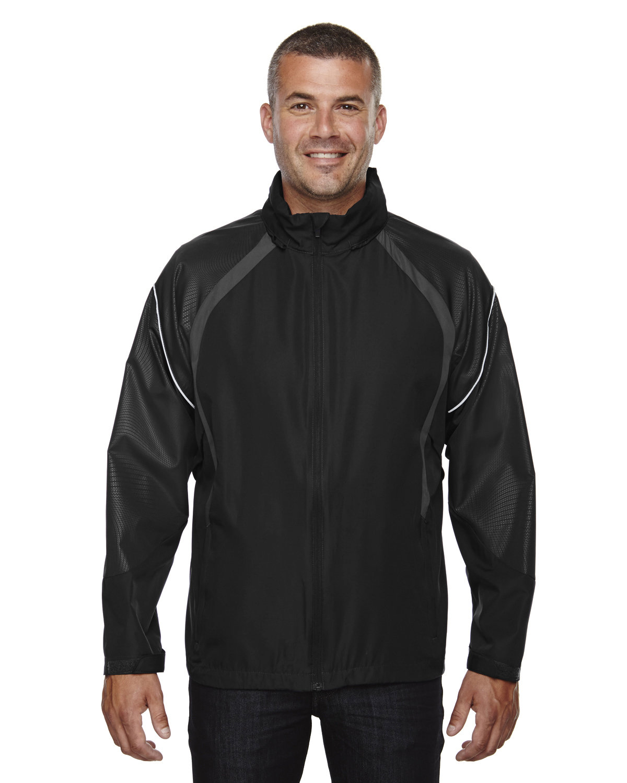 North End Men's Sirius Lightweight Jacket with Embossed Print BLACK